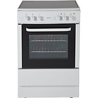 Bush BESC60W White Single Electric Cooker - Express Delivery