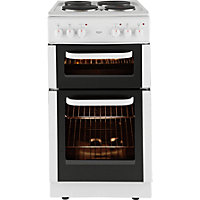 Bush BED50W Double Electric Cooker - White.