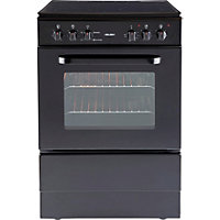 Bush BESC60B Black Single Electric Cooker - Express Delivery