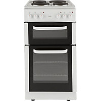 Bush BED50W White Double Electric Cooker - Express Delivery.