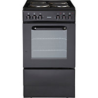 Bush BES50B Black Single Electric Cooker - Express Delivery.