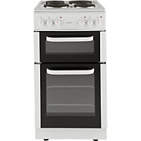 Bush BED50W White Double Electric Cooker - Instal/Del/Rec.