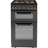 Bush BED50B Black Double Electric Cooker - Express Delivery.