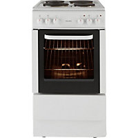 Bush BES50W White Single Electric Cooker - Express Delivery.