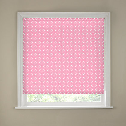 Image for Sandown & Bourne White & Pink Hearts Blackout Blind - 60cm from StoreName
