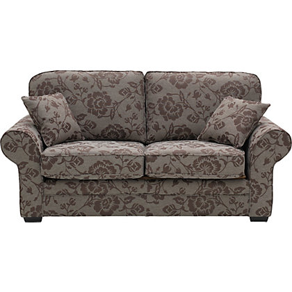 Heart of house chedworth floral sofa bed chocolate mocha for Floral sofa bed
