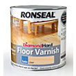 Ronseal Diamond Hard Floor Varnish Satin Clear- 2.5L