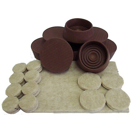 Image for Felt Pads And Castor Cups - 29 Pack from StoreName