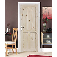 London 4 Panel Knotty Pine Internal Door - 762mm Wide
