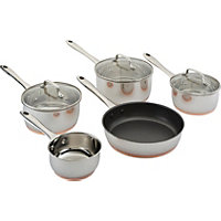 Heart of House 3 Piece Copper Base Pan Set.
