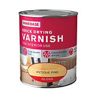 Homebase Quickdry Varnish Gloss Antique Pine - 750ml