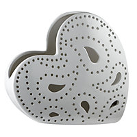 Corazon Heart Shaped Table Lamp - White