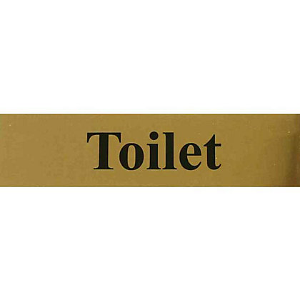 Image for Toilet Sign - Black/Gold from StoreName
