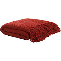 Living Cotton Throw - Red.