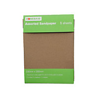 Homebase Sandpaper Assorted - 5 pack