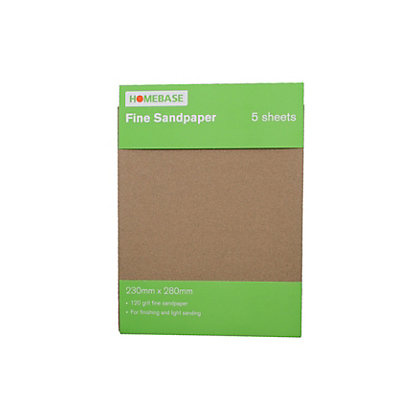 Image for Homebase Sandpaper Fine - 5 pack from StoreName