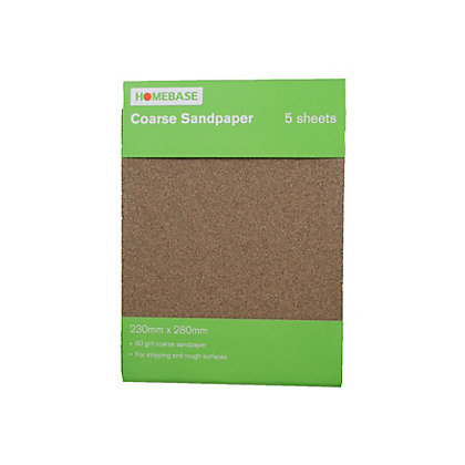 Image for Sandpaper Coarse - 5 pack from StoreName