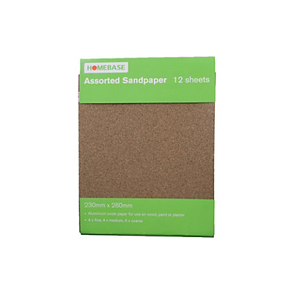 Image for Sandpaper Assorted - 12 pack from StoreName
