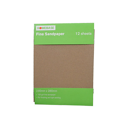 Image for Homebase Sandpaper Fine - 12 pack from StoreName