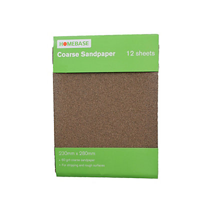 Image for Sandpaper Coarse - 12 pack from StoreName