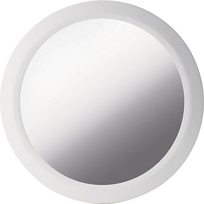 Image for Georgia White Wall Mounted Round Bevelled Mirror from StoreName
