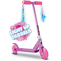 Zinc Style-a-Ride Girls' Light-Up Scooter.