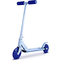 Zinc Style-a-Ride Non-Folding Blue In-Line Scooter.