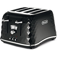 De'Longhi Brilliante 4 Slice Toaster - Black
