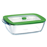 Pyrex Rectangular Glass Dish with Lid
