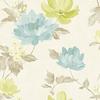 Renoir Wallpaper -  Teal & Green
