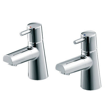 Image for Cone Basin Pillar Taps from StoreName