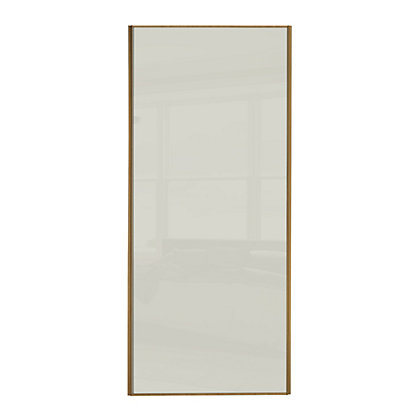 Image for Classic Wood Windsor Oak Frame Soft White Glass Sliding Door - 914mm from StoreName