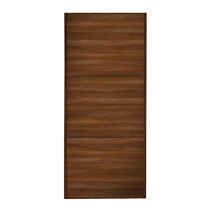 Image for Linear Walnut Frame Walnut Panel Sliding Door - 610mm from StoreName