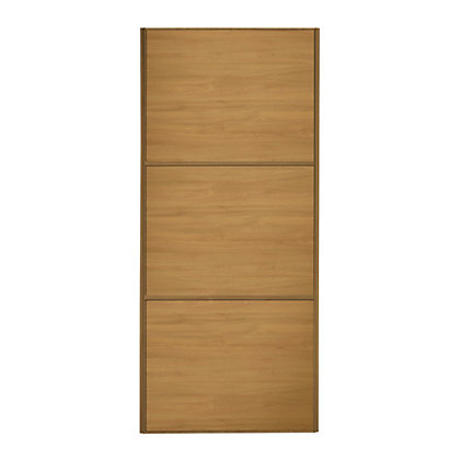 Image for Linear Windsor Oak Frame Windsor Oak Panel Sliding Door - 762mm from StoreName