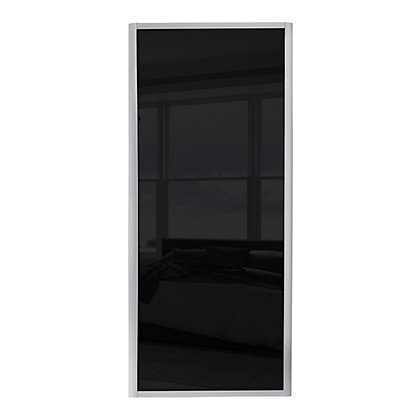 Image for Ellipse Single Panel Black Glass Sliding Door - 610mm from StoreName