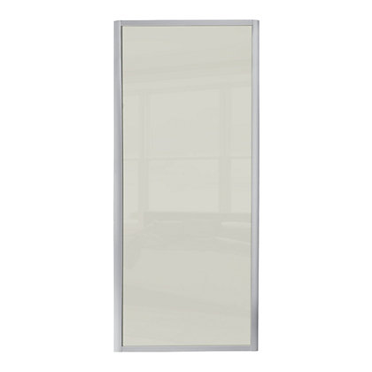 Image for Ellipse Single Panel Soft White Glass Sliding Door - 762mm from StoreName