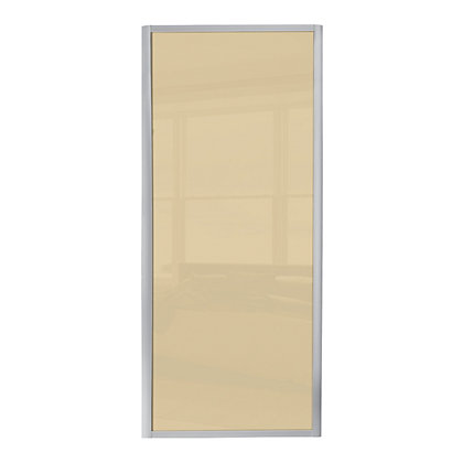 Image for Ellipse Single Panel Cream Glass Sliding Door - 914mm from StoreName