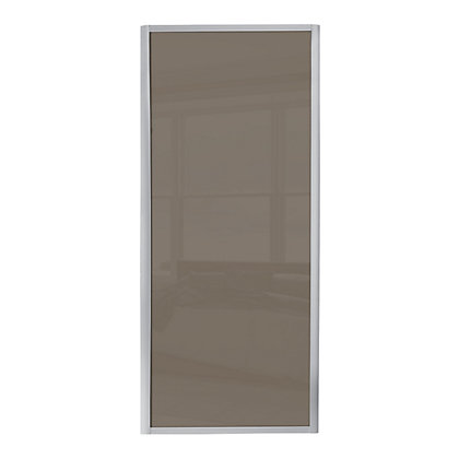 Image for Ellipse Single Panel Cappuccino Glass Sliding Door - 914mm from StoreName