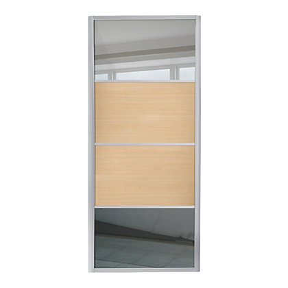 Image for Ellipse 4 Panel Mirror and Maple Panel Sliding Door - 610mm from StoreName