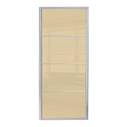 Image for Ellipse 4 Panel Cream Glass Sliding Door - 610mm from StoreName