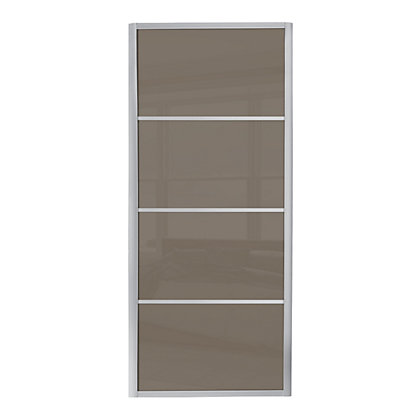 Image for Ellipse 4 Panel Cappuccino Glass Sliding Door - 610mm from StoreName