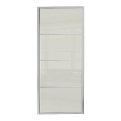 Image for Ellipse 4 Panel Soft White Glass Sliding Door - 610mm from StoreName