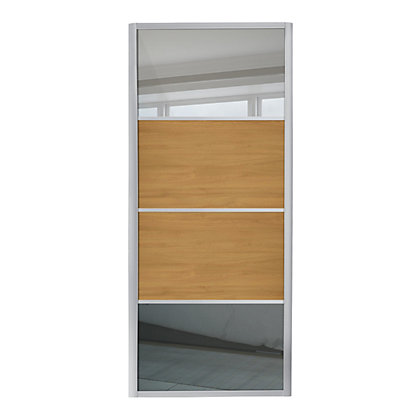 Image for Ellipse 4 Panel Mirror and Windsor Oak Sliding Door - 762mm from StoreName
