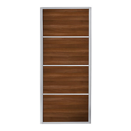 Image for Ellipse 4 Panel Walnut Panel Sliding Door - 762mm from StoreName