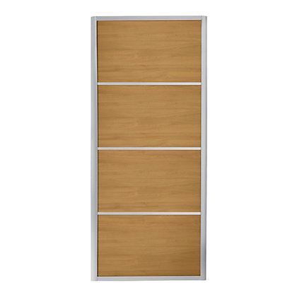 Image for Ellipse 4 Panel Windsor Oak Panel Sliding Door - 914mm from StoreName