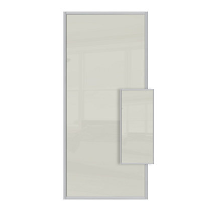Image for Duo Soft White Glass Sliding Door - 610mm from StoreName