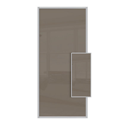 Image for Duo Cappuccino Glass Sliding Door - 610mm from StoreName