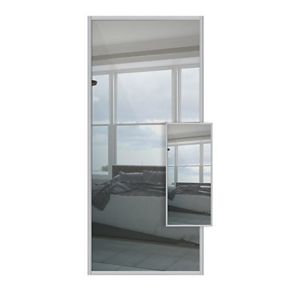 Image for Duo Mirror and Mirror Sliding Door - 914mm from StoreName