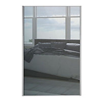 Loft Silver Frame Mirror Sliding Door - 610mm