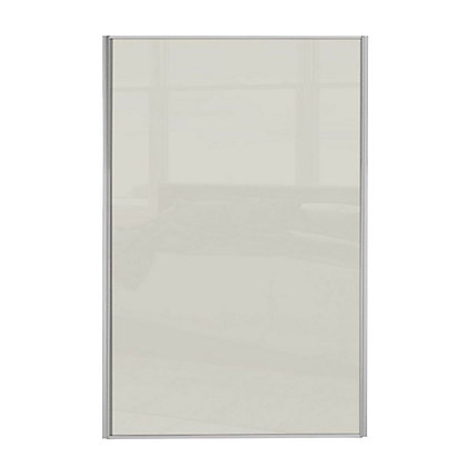 Image for Loft Silver Frame Soft White Glass Sliding Door - 762mm from StoreName